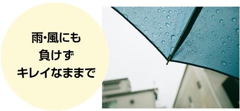 雨・風にも負けずキレイなままで